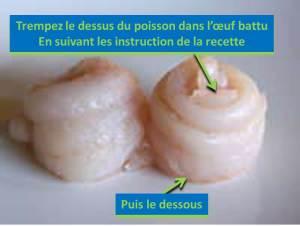 roulés de poisson