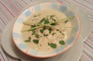 Soupe de pouilet ai lait de coco citronnelle 2