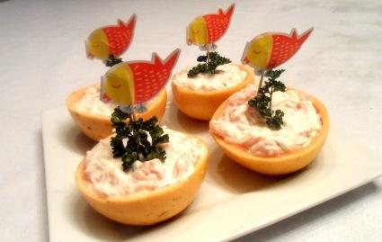 pamplemousse au surimi et fromage frais