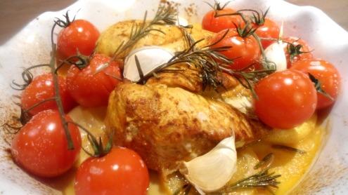 Poulet épicé aux tomates
