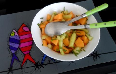 salade de comcombre et melon