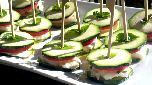 Mini burger de courgette