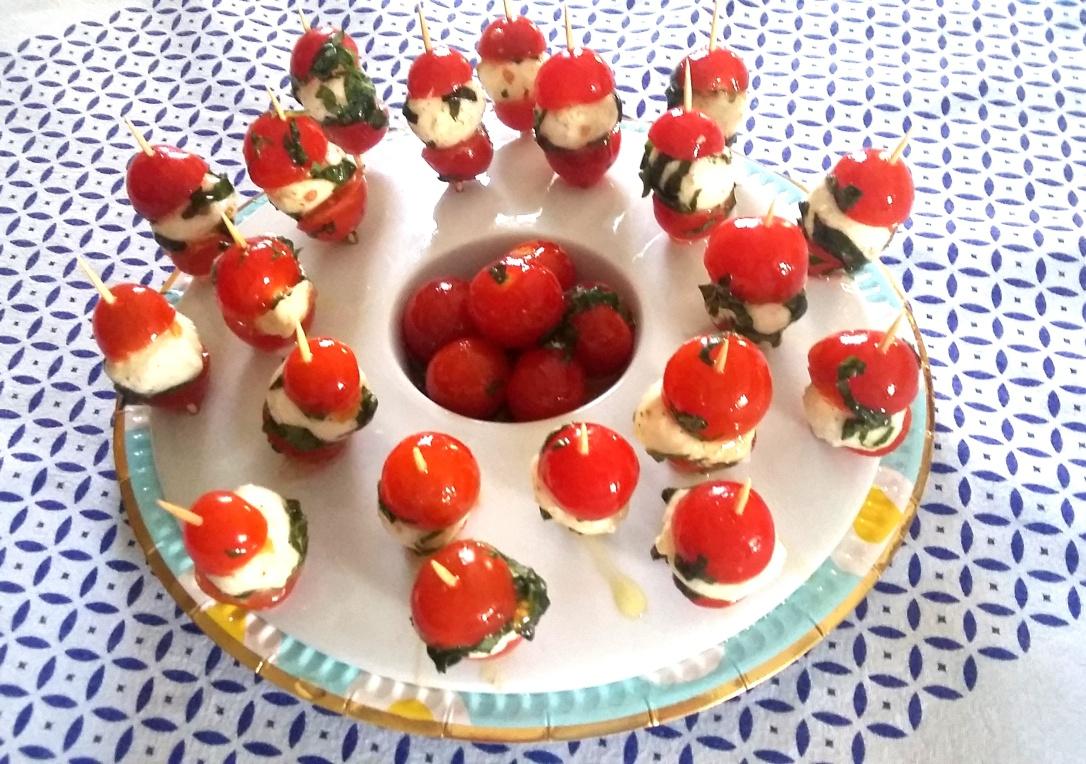 Brochettes tomates mozzarella