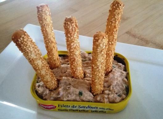 rillette de sardine au paprika et ciboulette zoom