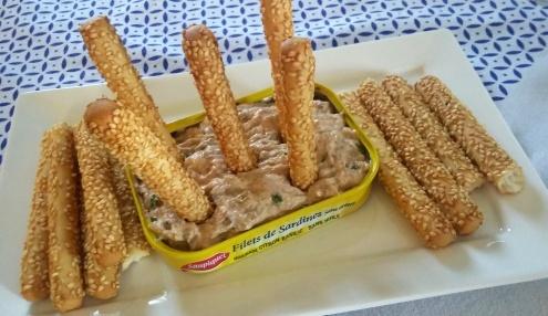 rillette de sardine au paprika et ciboulette