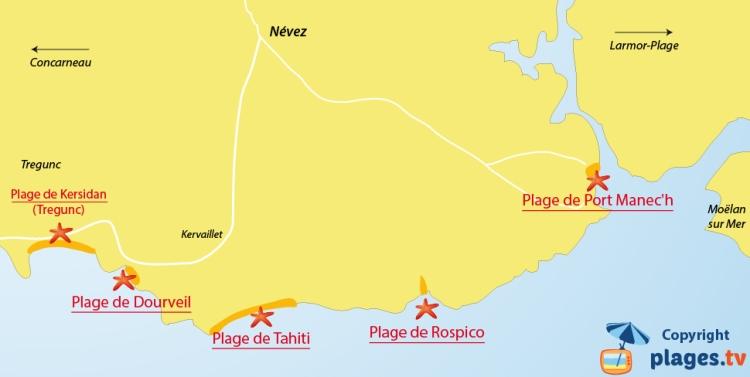 plan-plages-nevez-bretagne