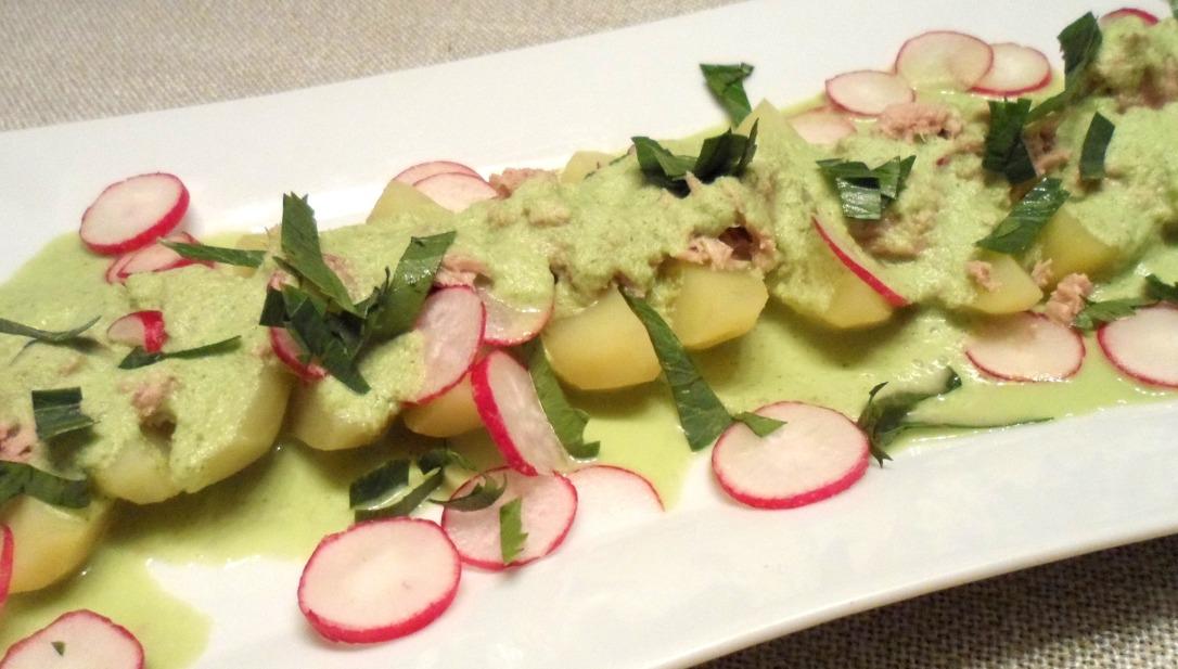 salade de pomme de terre sauce végétale
