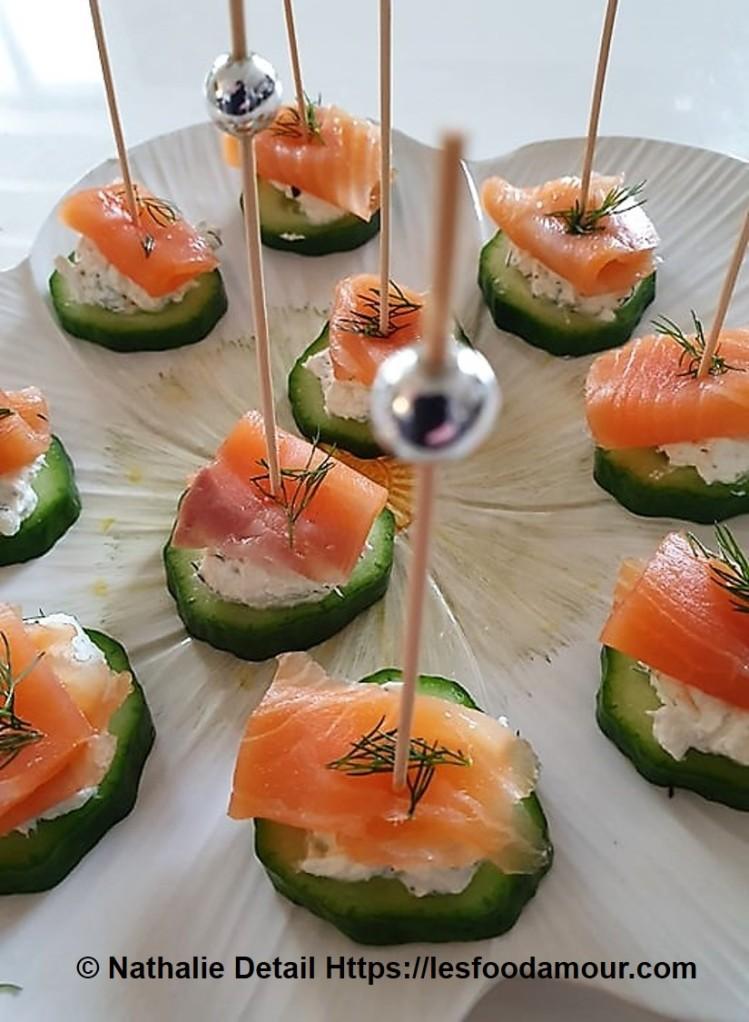 amuse bouche au saumon et fromage frais