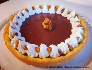 tarte choco caramel noisettes
