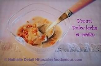 yaourt dolce leche au pralin