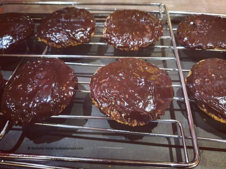 biscuits aux flocons d'avoine chocolat