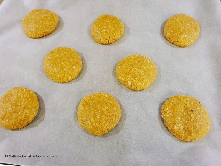 biscuits aux flocons d'avoine cru