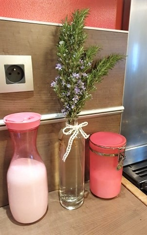 DIY custom bouteille bouquet de romarin