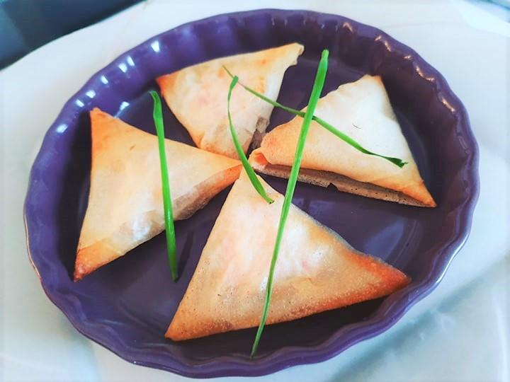 Recette de samoussa ou bricks au jambon fromage