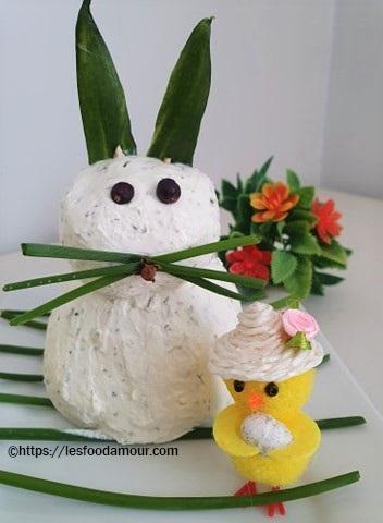 Idée de fromage pour Pâques en forme de lapin