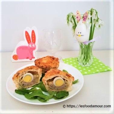 Mini pâtés de Pâques aux œufs de caille