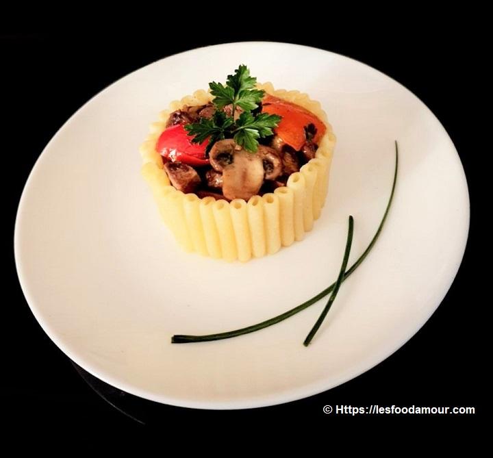 Timbale de macaroni persillade de rognon