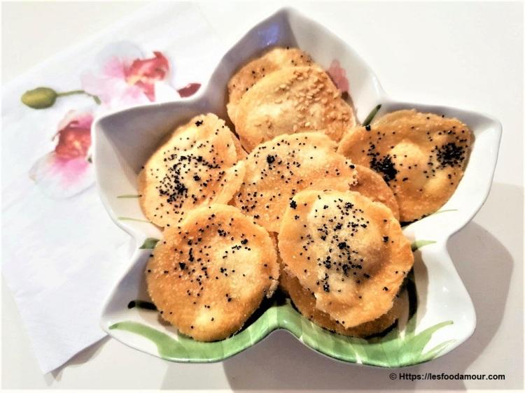 crackers aux graines de pavot et sésame