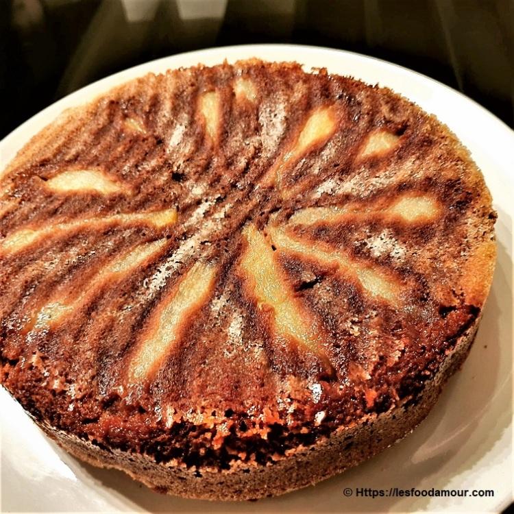 Gâteau fondant poires chocolat